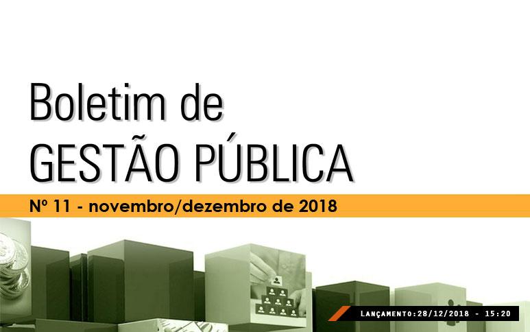 Ipece publica a última edição de 2018 do Boletim de Gestão Pública