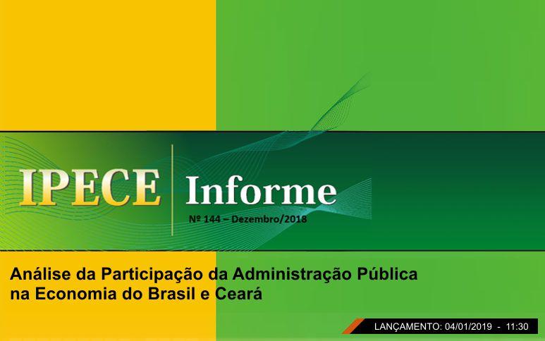 Estudo do Ipece analisa participação da administração pública na economia