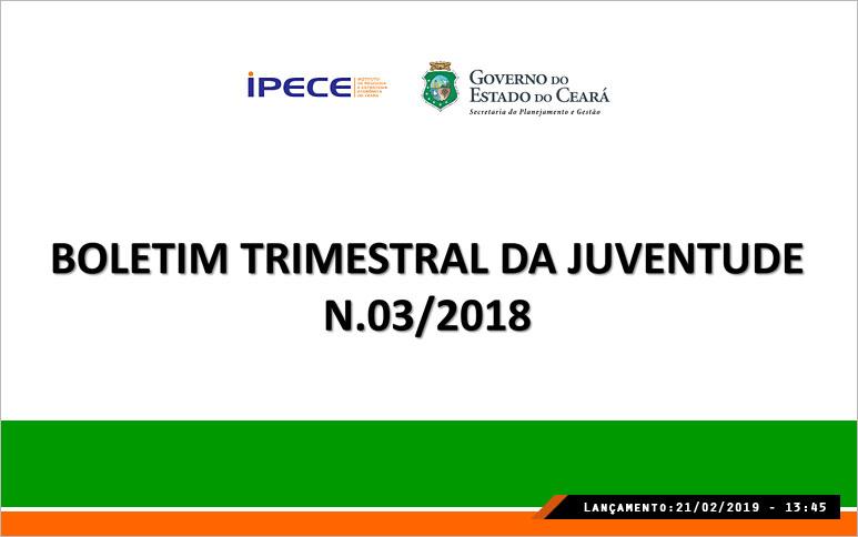 Frequência escolar cresce e proporção de analfabetos cai entre jovens de 15 a 29 anos no Ceará, revela estudo do Ipece