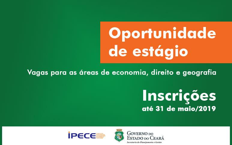 Ipece oferta estágio remunerado para áreas de economia, direito e geografia
