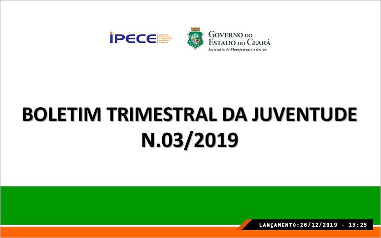Estudo revela crescimento na frequência escolar entre jovens no Ceará no 3º trimestre de 2019