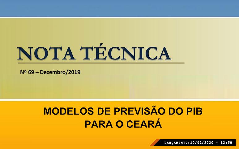 Modelos de projeções do PIB são abordados em trabalho do Ipece