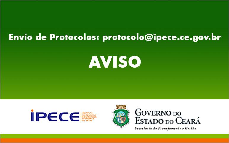 Em cumprimento às medidas de enfrentamento ao Coronavírus no Ceará, o IPECE está funcionando em teletrabalho