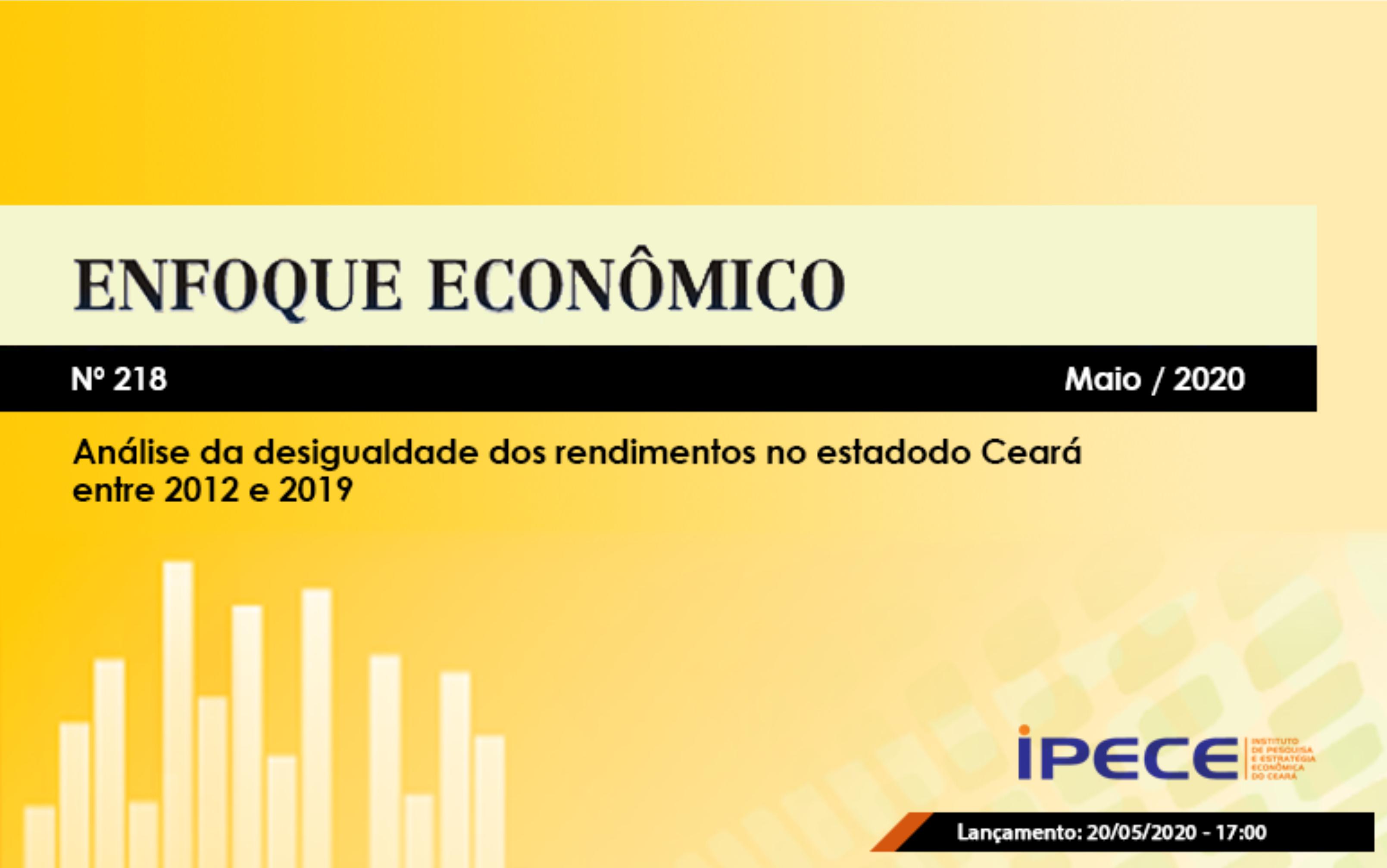 Novo estudo do Ipece analisa desigualdade de rendimento no Ceará