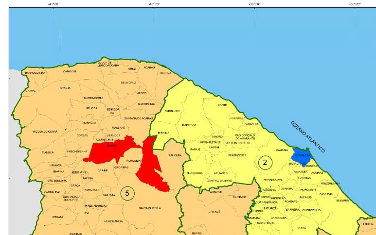 Mapa do Ipece possibilita consulta das fases do plano de retomada da economia nos 184 municípios do Ceará