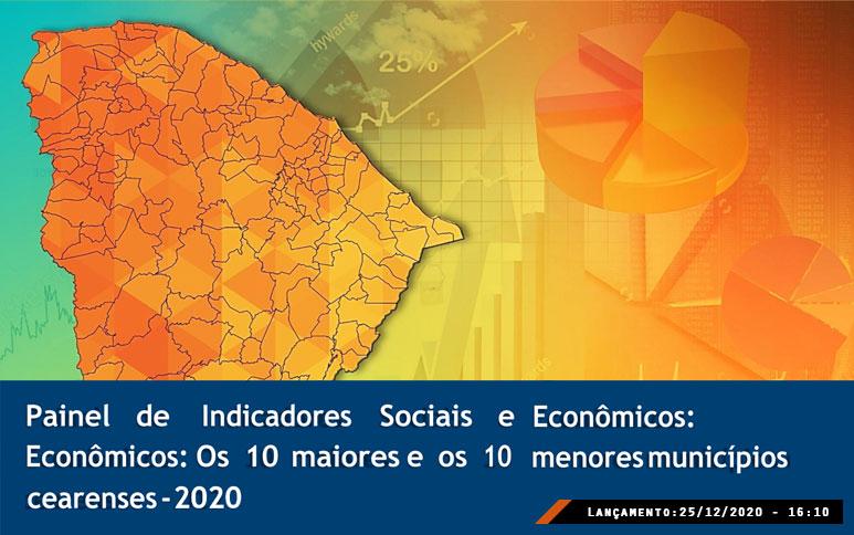Trabalho do Ipece traz ranking dos dez maiores e menores municípios do Ceará por indicadores geossocioeconômicos