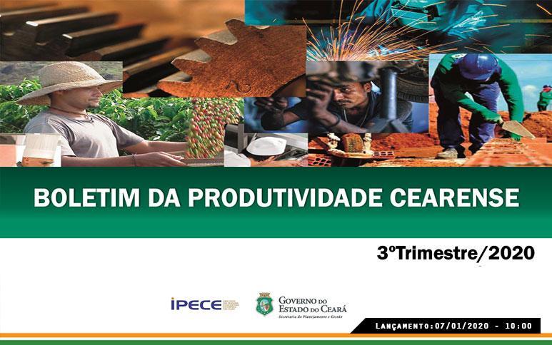 Desempenho da produtividade agregada por pessoal e por horas trabalhadas da economia cearense supera a do Brasil