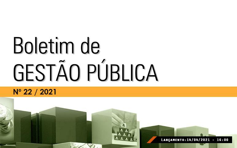 Dois artigos compõem a nova edição do Boletim de Gestão Pública