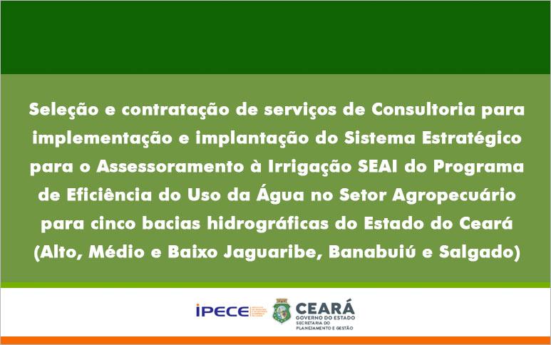 Aviso de Manifestação de Interesse – MI 20210002/CEL04/IPECE/CE